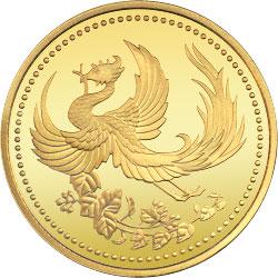 ご在位10年記念1万円金貨の表