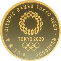 東京2020オリンピック競技大会記念 1万円金貨(第一次発行分)|裏
