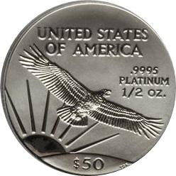 プラチナイーグルコイン 1/2オンス|裏