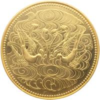 天皇陛下御在位60年記念金貨 表