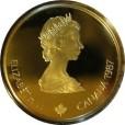 カルガリーオリンピック100ドル金貨|表