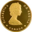 カナダ100ドル金貨 ビッグホーン|表