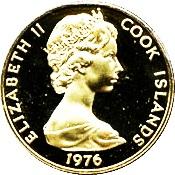 クック諸島 アメリカ合衆国建国200年 100ドル金貨|表