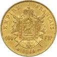 100フラン ナポレオン金貨|裏