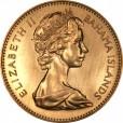 バハマ 100ドル金貨|表