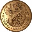 バハマ 100ドル金貨|裏