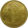 スイス 10フラン金貨|裏