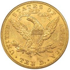 10ドル リバティ金貨|裏