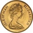 マン島 1ソブリン金貨|表