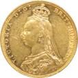 1ソブリン金貨 ヴィクトリア|裏