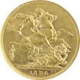 1ソブリン金貨 ヴィクトリア|表