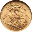1ソブリン金貨 ジョージ5世|表
