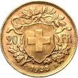 スイス 20フラン金貨|裏