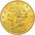20ドル リバティ金貨|表