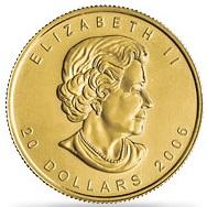 メイプルリーフ金貨 1/2oz(オンス)|表