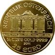 ウィーン金貨 1/4oz(オンス)|表