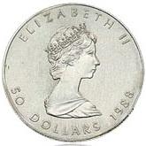 プラチナメイプルリーフコイン 1オンス|表
