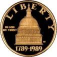 アメリカ議会200年記念5ドル金貨|表