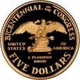 アメリカ議会200年記念5ドル金貨|裏