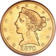 5ドル リバティ金貨|表
