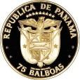 パナマ独立75周年75バルボア金貨|裏