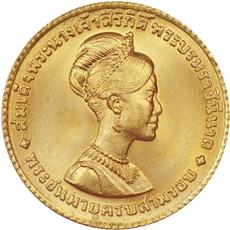 150バーツ金貨 シリキット女王|表