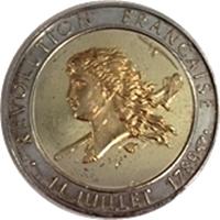 フランス革命200年記念金貨|表