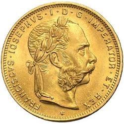 オーストリア8フローリン20フラン金貨2