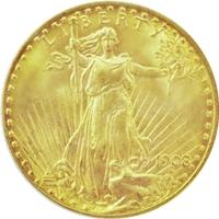 セントゴーデンズ金貨|表