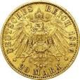 20マルク金貨 フリードリヒ1世 (アンハルト公)1896|裏
