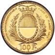 1934年射撃祭記念100フラン金貨|裏