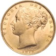 1872 ビクトリア ヤングヘッド ソブリン金貨|表