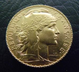 雄鶏20フラン金貨