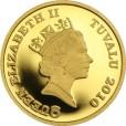 ツバルホース金貨 1/10oz(オンス)|表