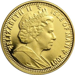 ハリーポッター金貨1/25クラウン (ホグワーツ)|表