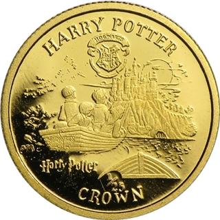 ハリーポッター金貨1/25クラウン (ホグワーツ)|裏