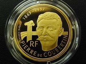 アルベールビル五輪記念500フラン金貨 表