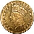 インディアン プリンセス (ラージヘッド)金貨|表