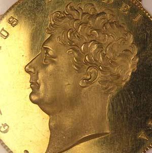 ジョージ4世2ポンド金貨イメージ