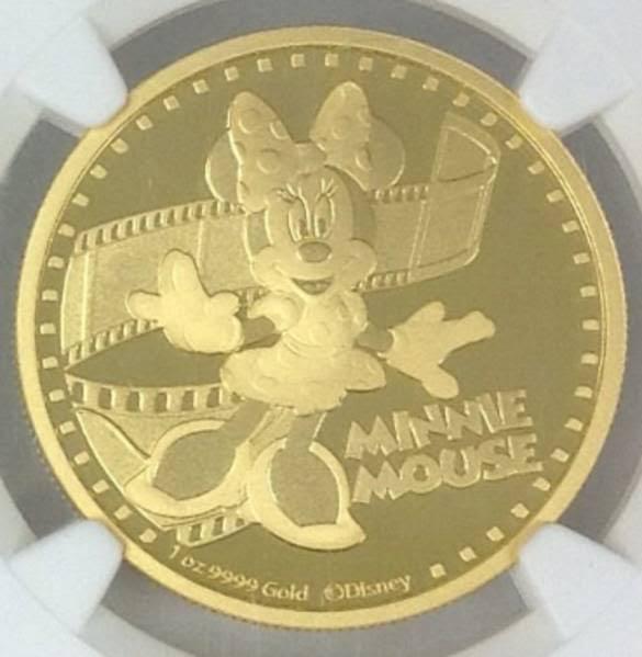 ニウエ 200ドル金貨 ミニー・マウス