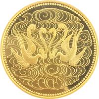 天皇陛下御在位60年記念 10万円プルーフ金貨|表