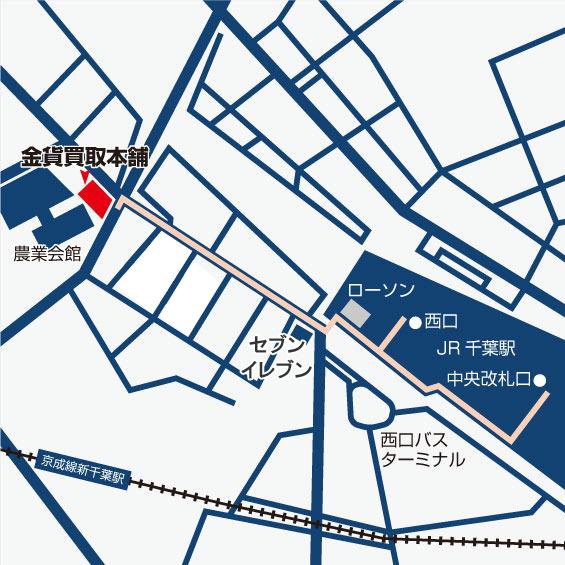 千葉店周辺地図